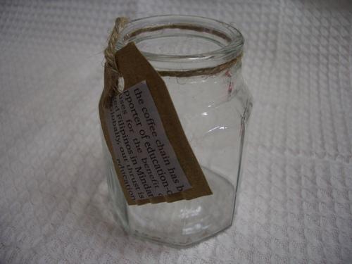 透明の瓶。